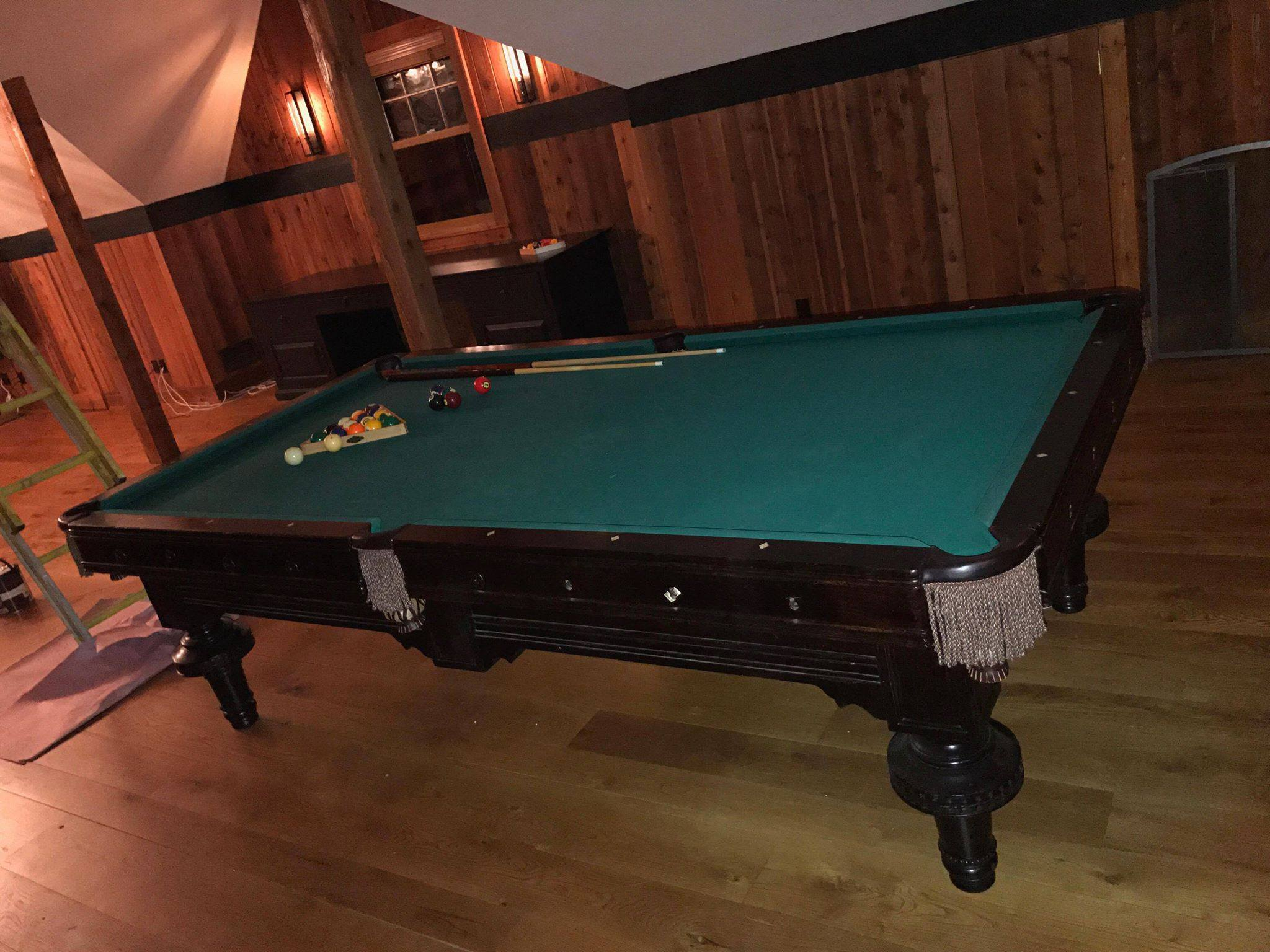 standard slate pool table
